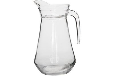 SCHENKKAN GLAS MET HANDVAT, 1,3 LTR.